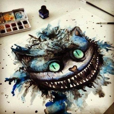 Cheshire Cat Watercolor Watercolor Pinterest