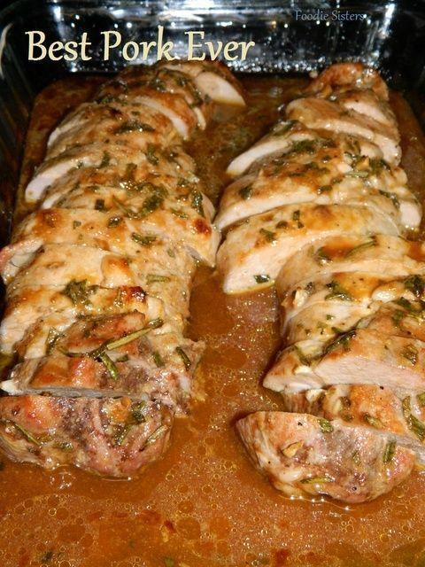 Garlic pork tenderloin- prob my favorite recipe so far. def best pork EVER! I marinaded for an hour before baking