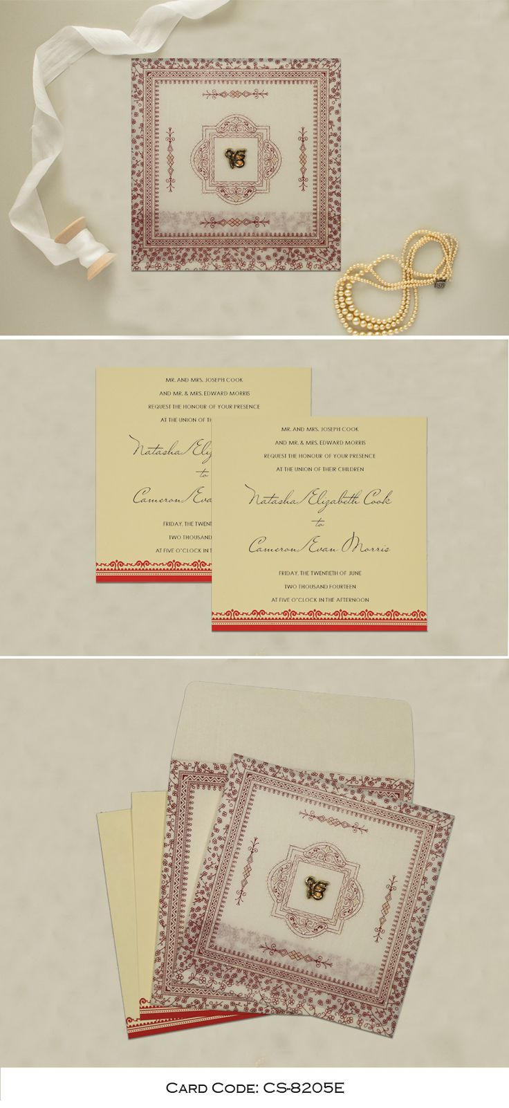Adorable Ivory Wooly Glitter Wedding Card For
