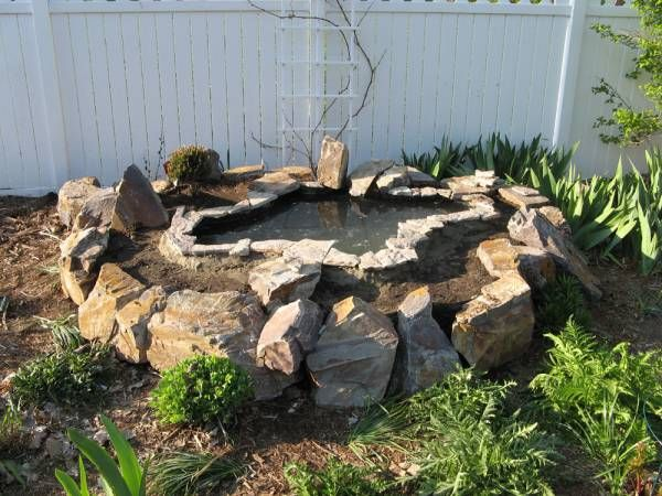 17 best images about pond ideas on pinterest raised pond for Garden pond rockery ideas