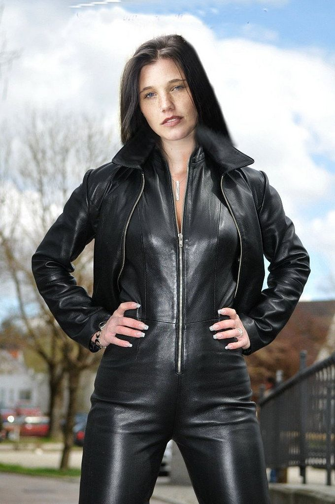 Ld79  Leather Catsuit, Leather Jumpsuit, Leather Fashion-3786