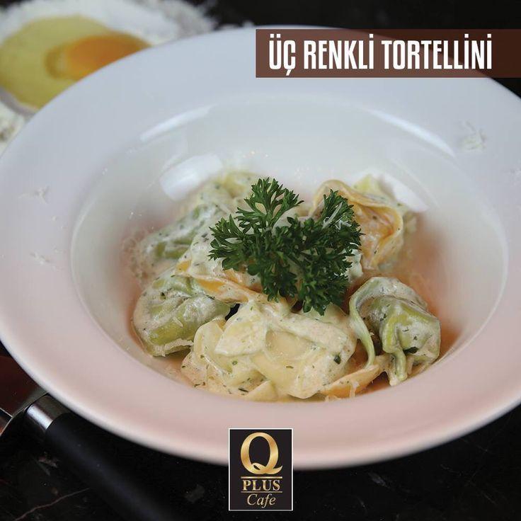 Iddia ediyoruz böylesini denemediniz! Hemen Q Plus'a gelin leziz üç renkli torterlliniyi deneyin... 🙂 #Qpluscafe #Tortellini