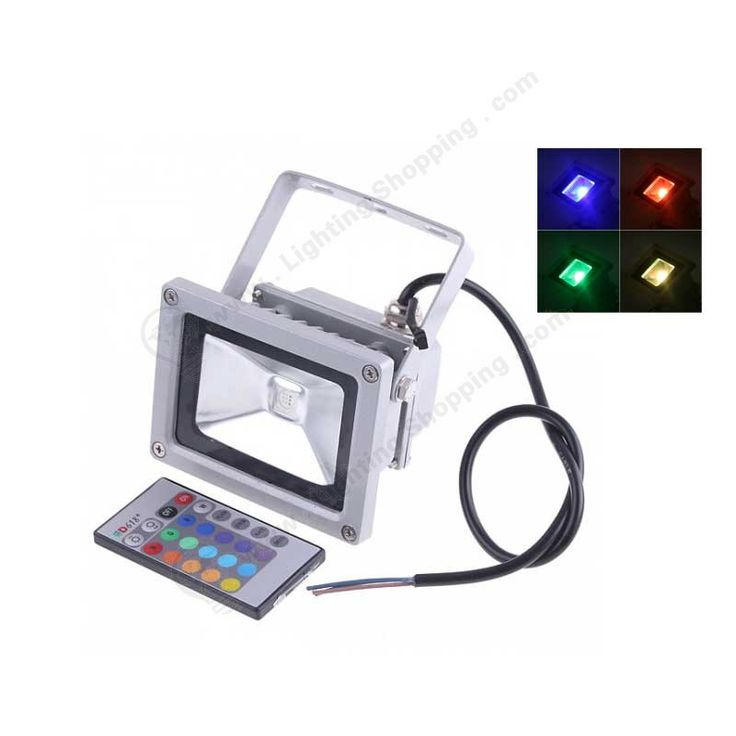 10W, 110/220V, 900Lm, Waterproof, RGB, LED Flood Light, Replaces 75W Halogen - See more at: http://www.lightingshopping.com/10w-110-220v-900lm-waterproof-rgb-led-flood-light-replaces-75w-halogen.html