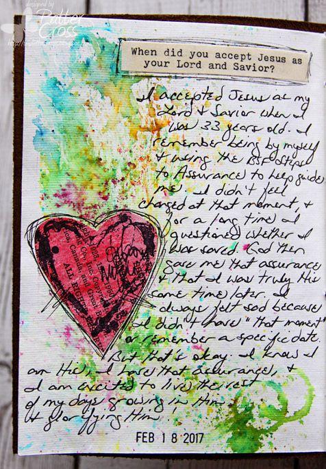 Triple the Scraps: Glory {Art} 2017 Scripture Challenge #2, Jesus