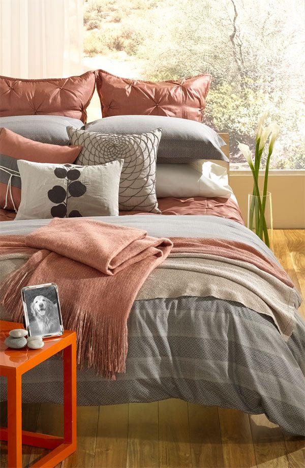 Loving the layering bedding...Nordstrom 'Origami' Duvet Set & Sheet Set. Soft serenity with Asian-inspired overtones.