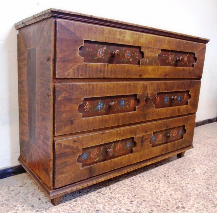 Comò dipinto - prov. Val d'Isarco | Antichità Evelina - Vendita mobili antichi tirolesi