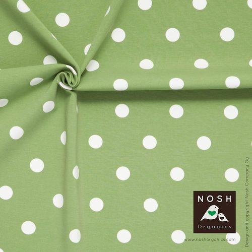 Popular Polka Dots in beautiful soft green.