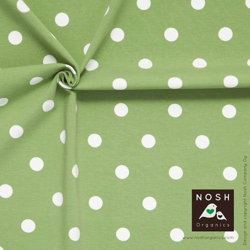 Popular Polka Dots in beautiful soft green.