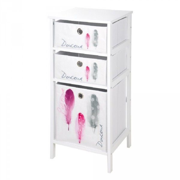 cheap meuble panires design zen plume rose with support seche cheveux gifi. Black Bedroom Furniture Sets. Home Design Ideas