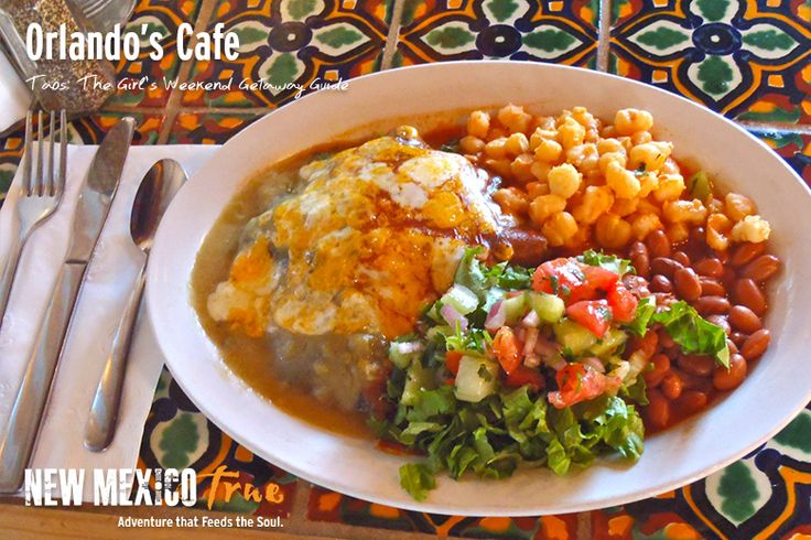 For a more casual dining experience head over to Orlando's. This is a local staple serving up delicious and authentic Northeastern New Mexican food. Start with their guacamole and be sure to get their blue corn enchiladas.