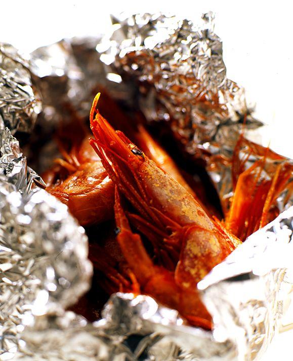 Varma rökta räkor med aioli | Recept.nu