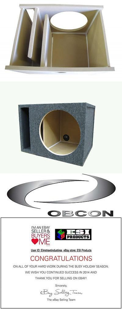 Speaker Sub Enclosures: 15 Single Subwoofer Box Enclosure 3/4 Mdf Labyrinth Vented Ported Made In Usa BUY IT NOW ONLY: $74.0
