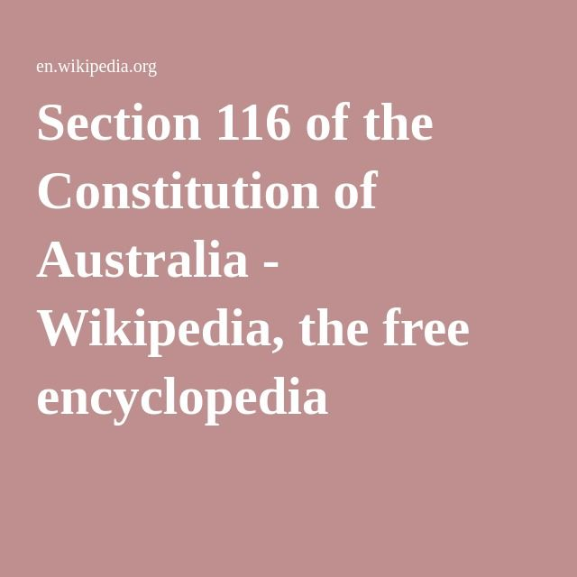 Section 116 of the Constitution of Australia - Wikipedia, the free encyclopedia