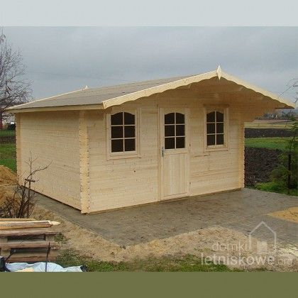 Drewniany domek ogrodowy (Wooden house) Clara 15,7 m2