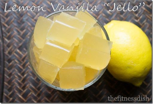 Lemon Vanilla Jello with Great Lakes Gelatin. Great for joint and skin health!