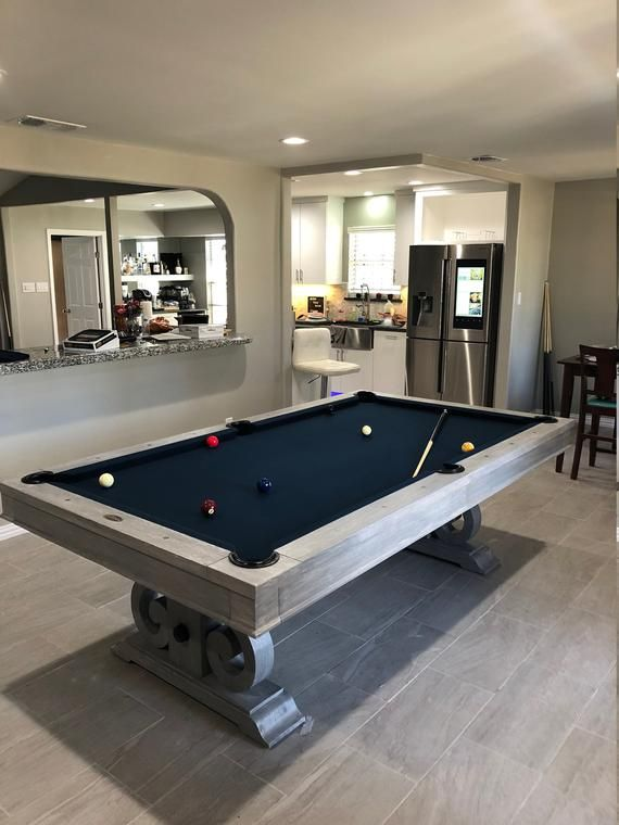 Custom 7 Or 8 Elegant Pool Table Grey Wash Finish Please Allow 3 5 Weeks For Customization Pool Table Dining Room Pool Table Billiards Dining Table