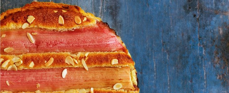 This is a modern twist on a British favourite made using rhubarb. It's easy to make but looks impressive. Rhubarb is in season from February until May.