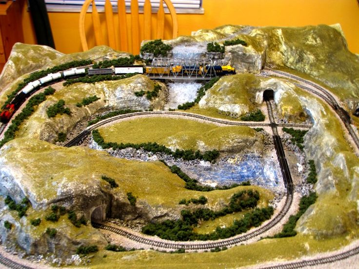 Thanks to Vance Doty of Post Falls, Idaho for submitting these great photos of his N scale train layout model train. Description from modeltrainbooks.org. I searched for this on bing.com/images