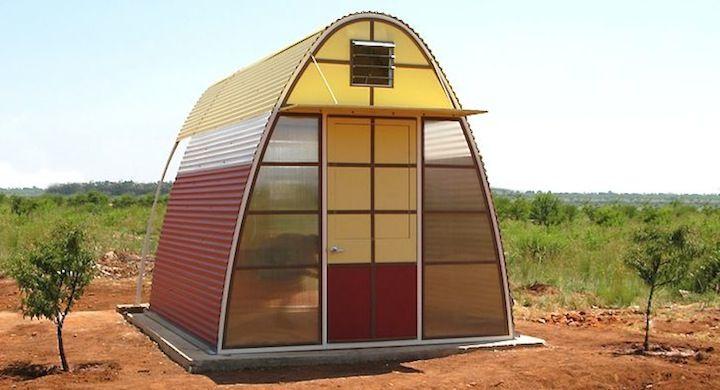 Casa sostenible que se construye en un sólo día