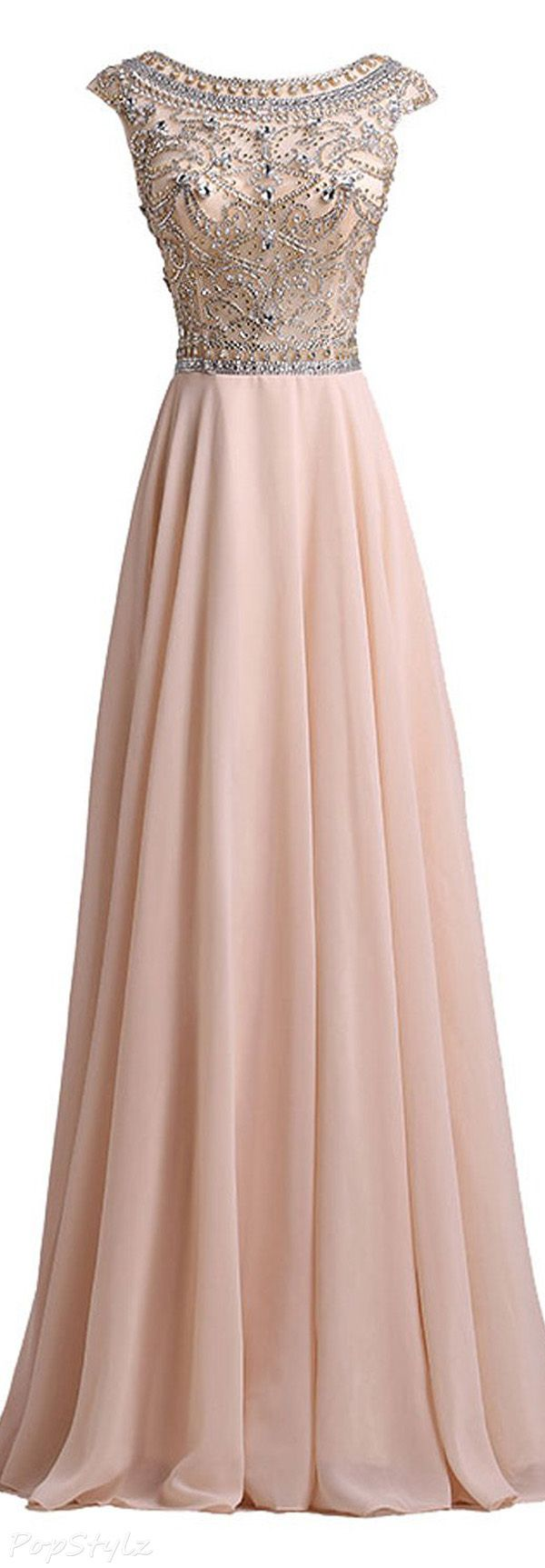 LovingDress Chiffon Tulle Long Evening Gown
