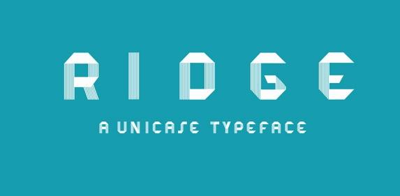 Font Inspirations: RIDGE Typeface [Free Download]