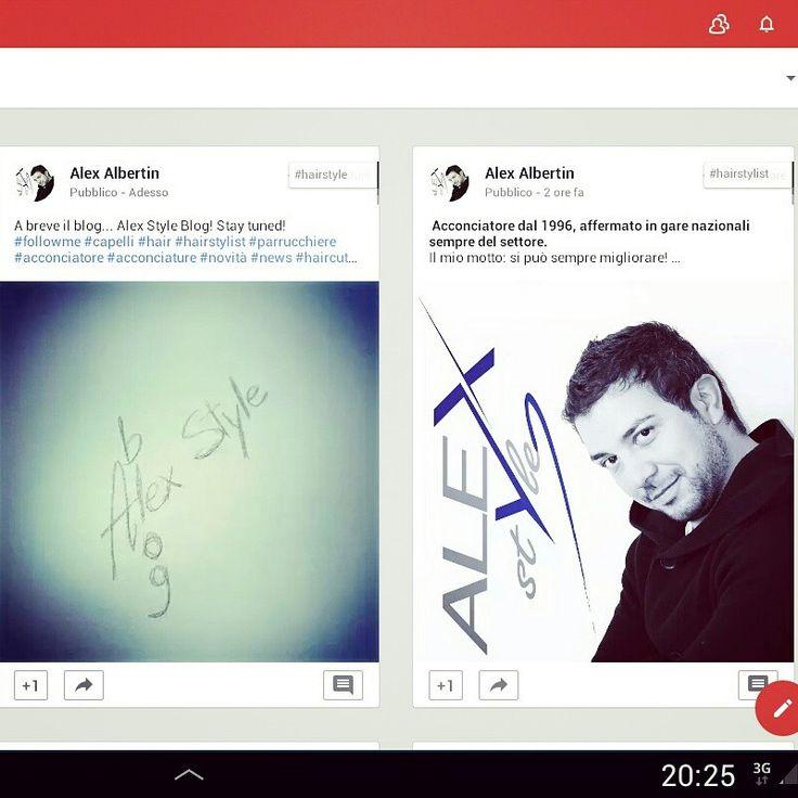 """Da oggi presente anche su Google + al profilo """"Alex Albertin""""!!! #googleplus #socialnetwork #facebook #instagram #pinterest #followme #parrucchiere #acconciatore #hairstylist #hairstyle #look #beauty #bellezza #taglio #piega #tendenze"""