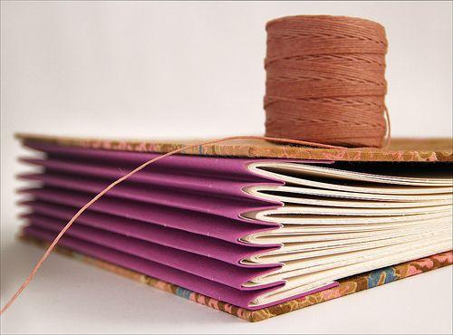 Costurando um livro grande