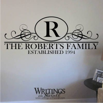 Last Name Wall Decor 15 best jan's board images on pinterest | vinyl wall decals