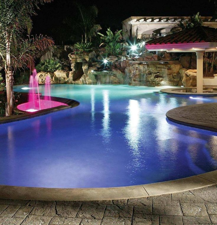 Inground Pools | Inground Pool Lighting , Pool Hall Lighting, Outdoor  Landscape Pool .