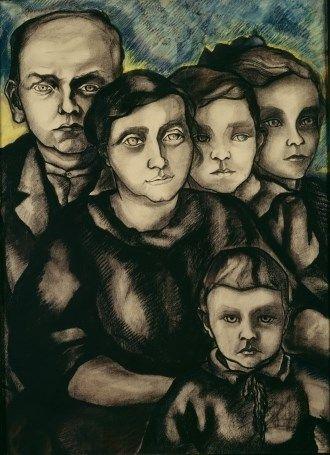 Charley Toorop - Familie Klomp, 1921. Stedelijk Museum Amsterdam
