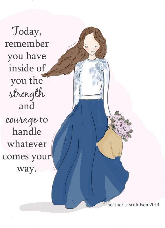 Inspirational Art for Women - Quotes for Women - Strength and Courage - Art for…