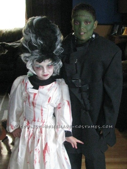 Cool DIY Couple Costume for Children: Frankenstein and ...