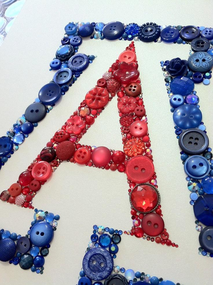 Button & Swarovski University of Arizona Logo! BEAR DOWN! https://www.etsy.com/bellepapiers