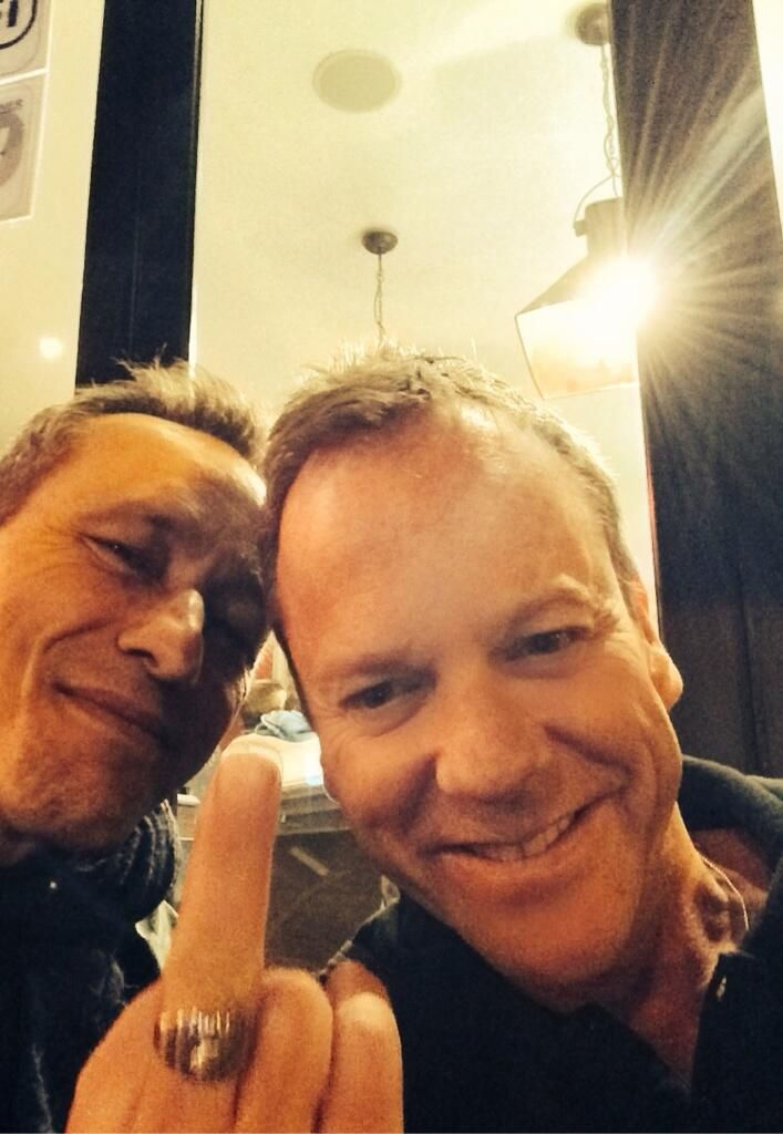 Here with Michael Wincott being silly.