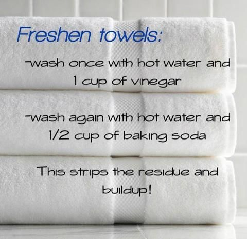 How to freshen towels