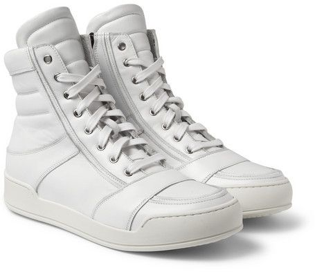 White High Top Sneakers by Balmain. Buy for $1,090 from MR PORTER