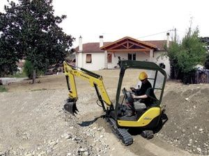 SV16 Yanmar Micro Digger has all round visibility. For more information: http://www.fresh-group.com/mini-diggers.html