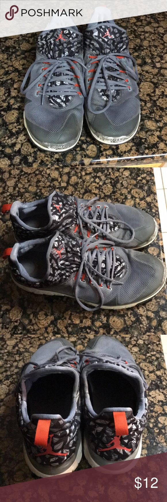 Jordan low top shoes Jordan low top trainer running shoes. Size 14. Wore strictly for outside running on concrete and trails. In decent shape just got a new pair to run in. Worn shoes! Great for running! Air Jordan Shoes Sneakers