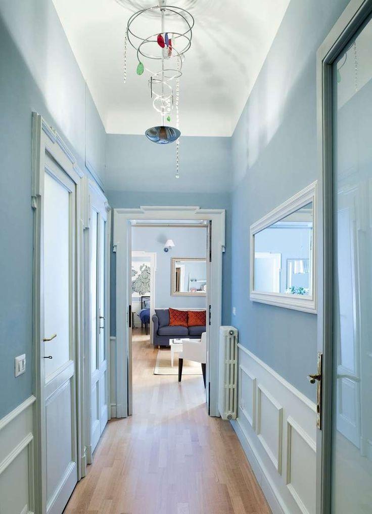 Abbinare i colori in una stanza - Corridoio celeste