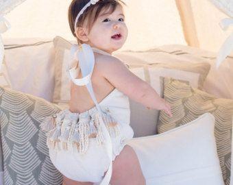 Mameluco del bebé mameluco bebé niña ropa Teal por BohoBloomers