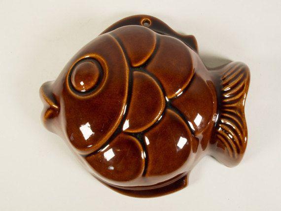 Vintage ceramic pudding mould West Germany by ThatVintageWorld