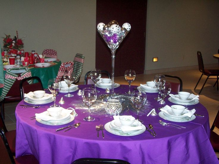 Banquet Table Setting Part - 30: Pictures Of Pastor Anniversary Decor | Table Decorated By One Of The Ladies  At My Church