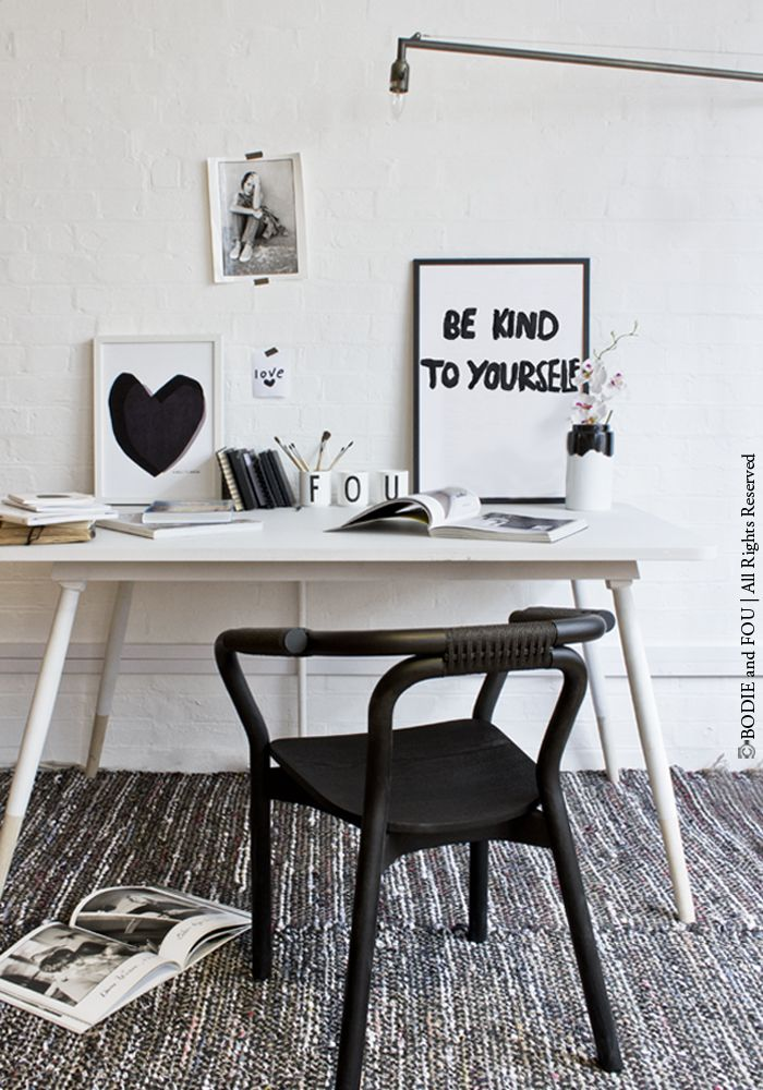 Be kind to yourself print Bodie and Fou black and white