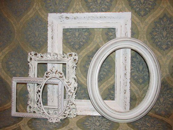 Five Ornate Shabby Chic Frames by DebosHomeDecor on Etsy, $52.95