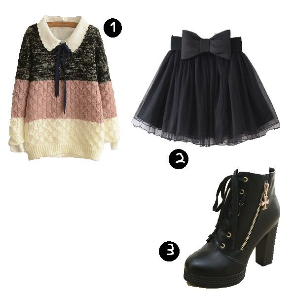 Look, Inspiração, Black Outfits, Moda Kawaii, Vestidos Kawaii, Kawaii outfits, Harajuku, Wig, Gyaru, Ulzzang, Lolita, Crazy and Kawaii Desu, Kawaii Desu,