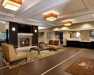 Homewood Suites by Hilton Rochester Greece Hotel, NY - Lounge and Front Desk | NY 14615