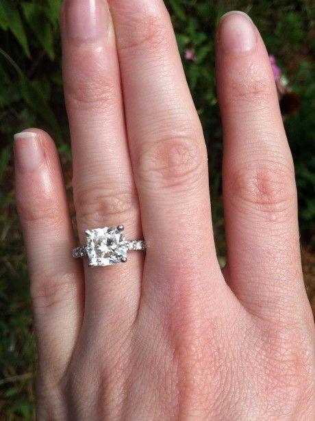 2 carat cushion cut solitaire engagement rings eternity