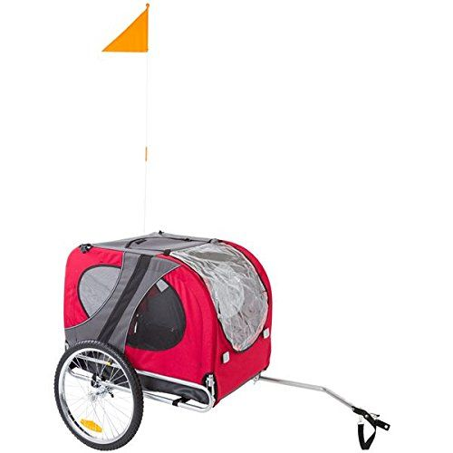 Amazon.com : Red Pull-Behind Dog Bicycle Trailer Pet Carrier : Pet Carrier Strollers : Pet Supplies