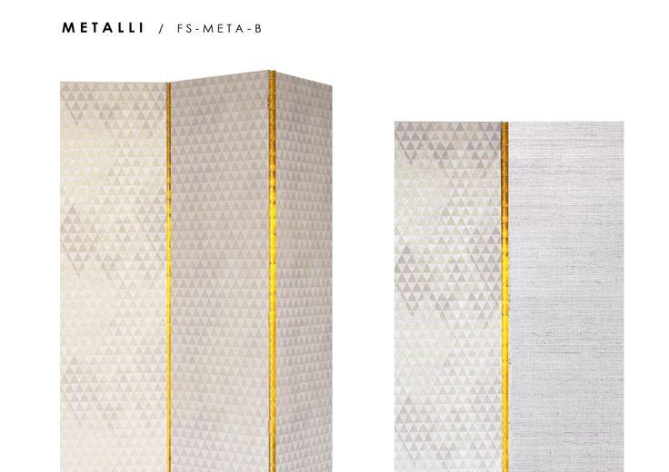 Metalli B. Room Divider Screen - Fold Screens
