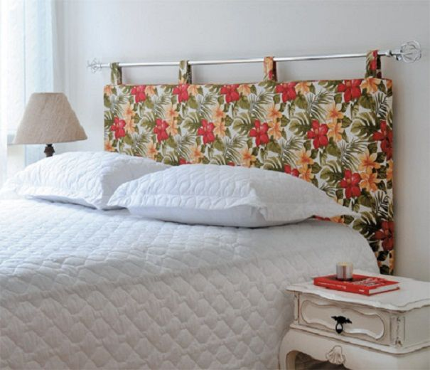 This would be a cute head board idea. Obviously mine would match my room.